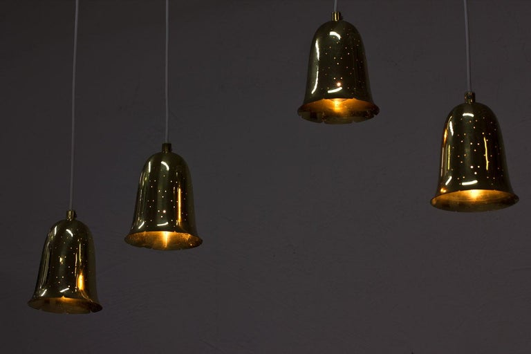 Swedish Brass Pendant Lamps by Boréns For Sale 1