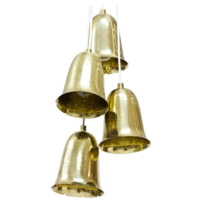 Swedish Brass Pendant Lamps by Boréns For Sale