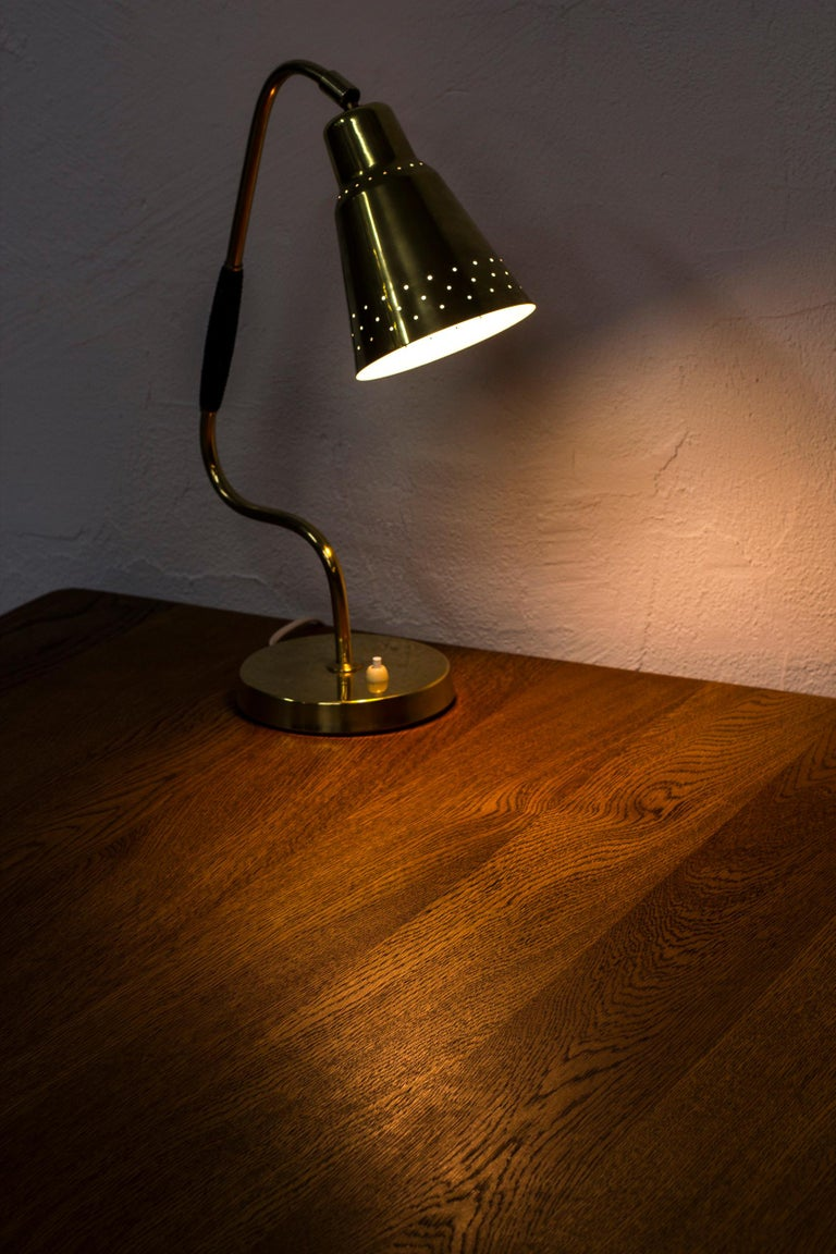 Swedish Brass Table Lamp by Bergboms, Sweden, 1950s For Sale 3