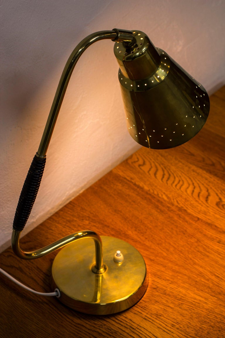 Swedish Brass Table Lamp by Bergboms, Sweden, 1950s For Sale 4