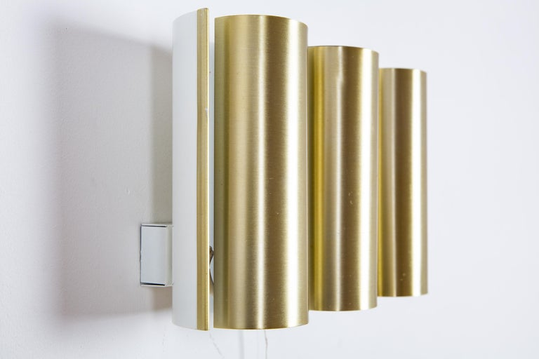 Swedish Brass Wall Lamp in the Style of RAAK For Sale 2