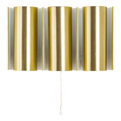 Swedish Brass Wall Lamp in the Style of RAAK