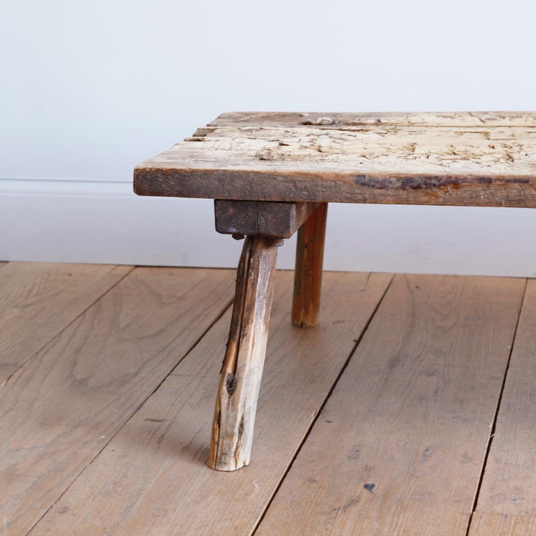 Swedish Butcher's Table In Distressed Condition For Sale In New York, NY