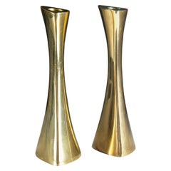 Swedish Candlesticks in Solid Brass by BCA Eskilstuna