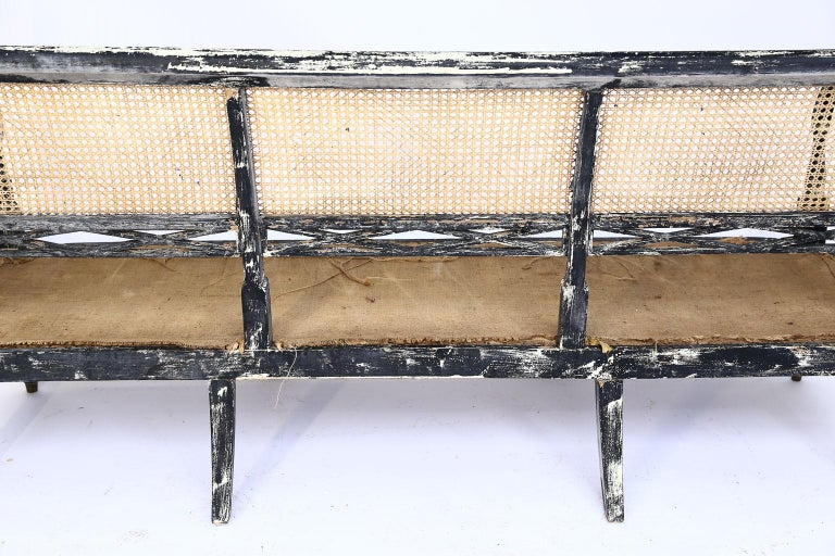 Swedish Cane Back Settee For Sale 6