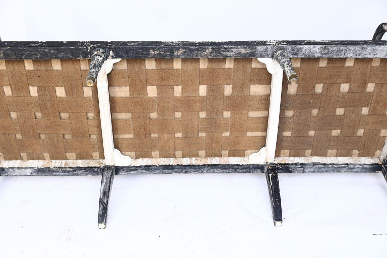 Swedish Cane Back Settee For Sale 4