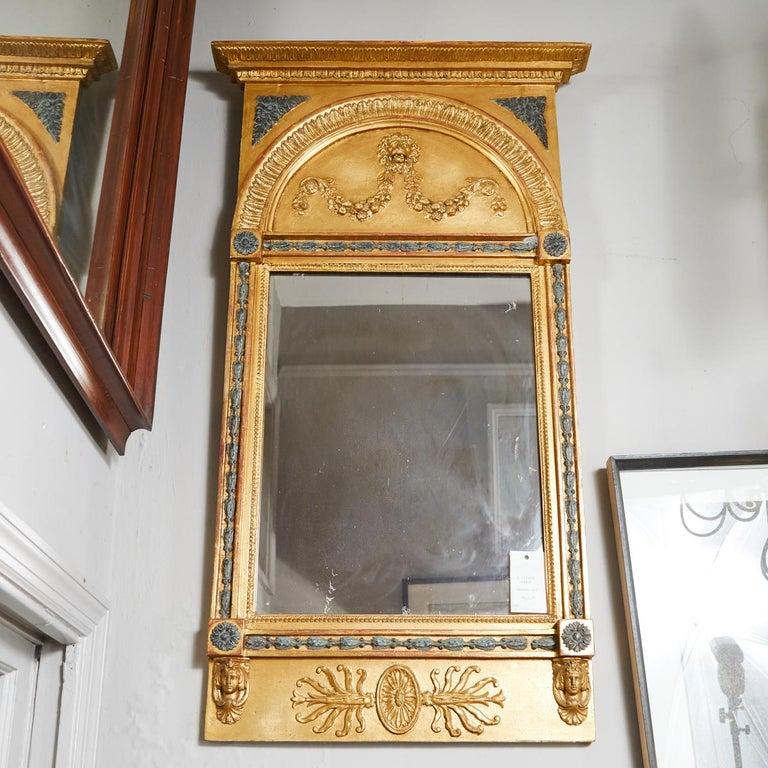 Swedish Carved Gilt Lion Mirror, circa 1800 For Sale 1