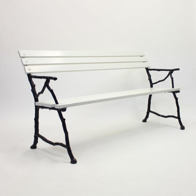 Arts and Crafts Swedish Cast Iron Garden Sofa, Ca 1900 For Sale