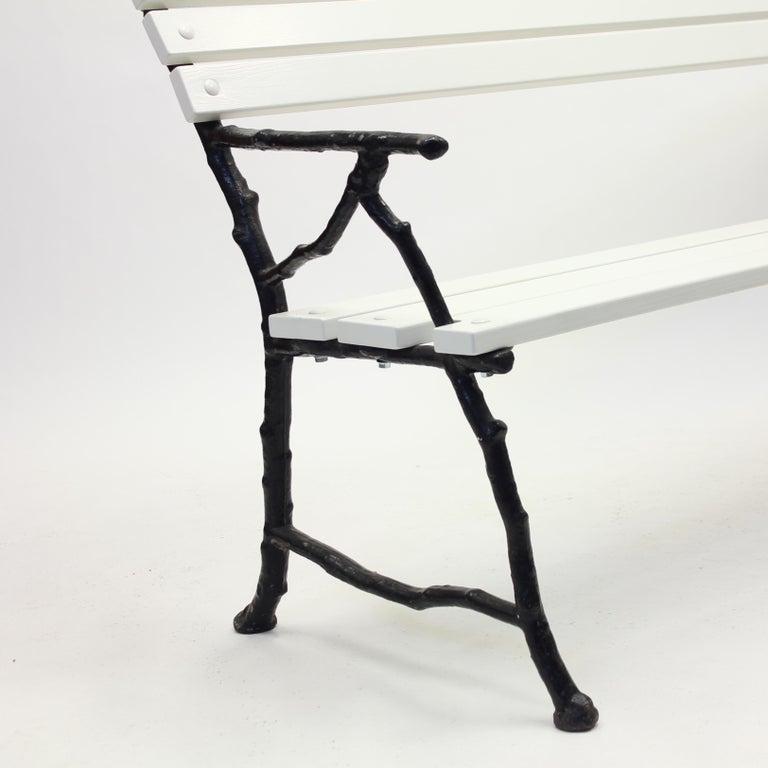 Swedish Cast Iron Garden Sofa, Ca 1900 For Sale 3