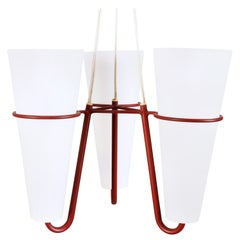 Swedish Ceiling Lamp in Lacquered Metal and Glass