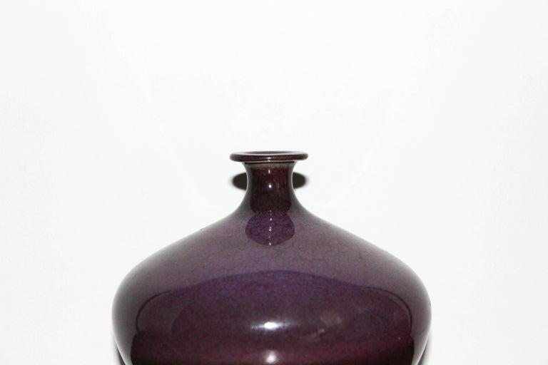 Scandinavian Modern Swedish Ceramic Vase by Sven Hofverberg For Sale