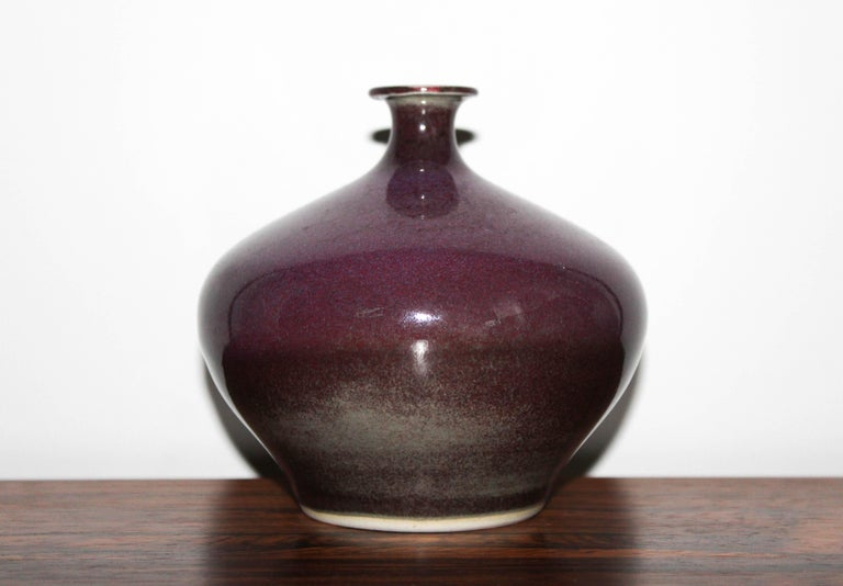 Swedish Ceramic Vase by Sven Hofverberg In Excellent Condition For Sale In Malmo, SE