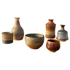 Swedish Ceramicists, Collection of Vases, Stoneware, Sweden, 1950s-1960s