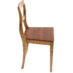 Swedish Chair of the Karl Johan/Empire Era, Pine and Birch, Late 1800s
