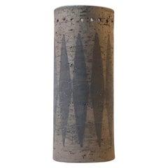 Swedish Chamotte Vase with Arrows by Valeria G. Törnberg for Elbogen