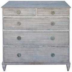 Swedish Chest with Two-Over Three-Drawers