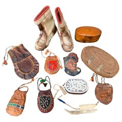 Swedish Collection of 11 Sami Folk Art Objects from Lappland