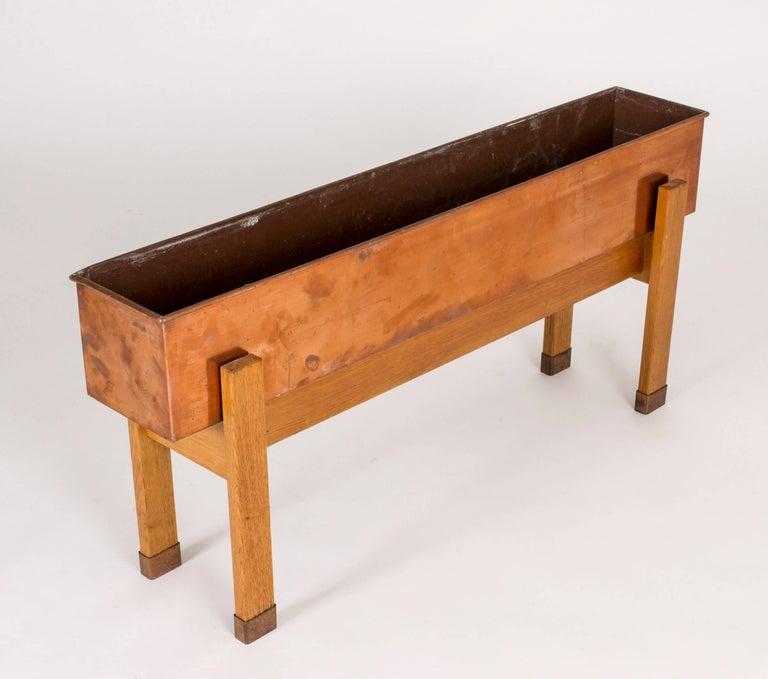 Mid-20th Century Swedish Copper Planter Box, 1960s For Sale