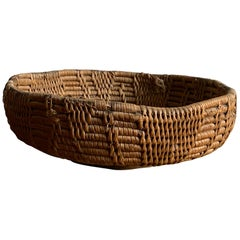 Swedish Craft, Basket or Bowl, Woven Fir Root, Sweden, 19th Century