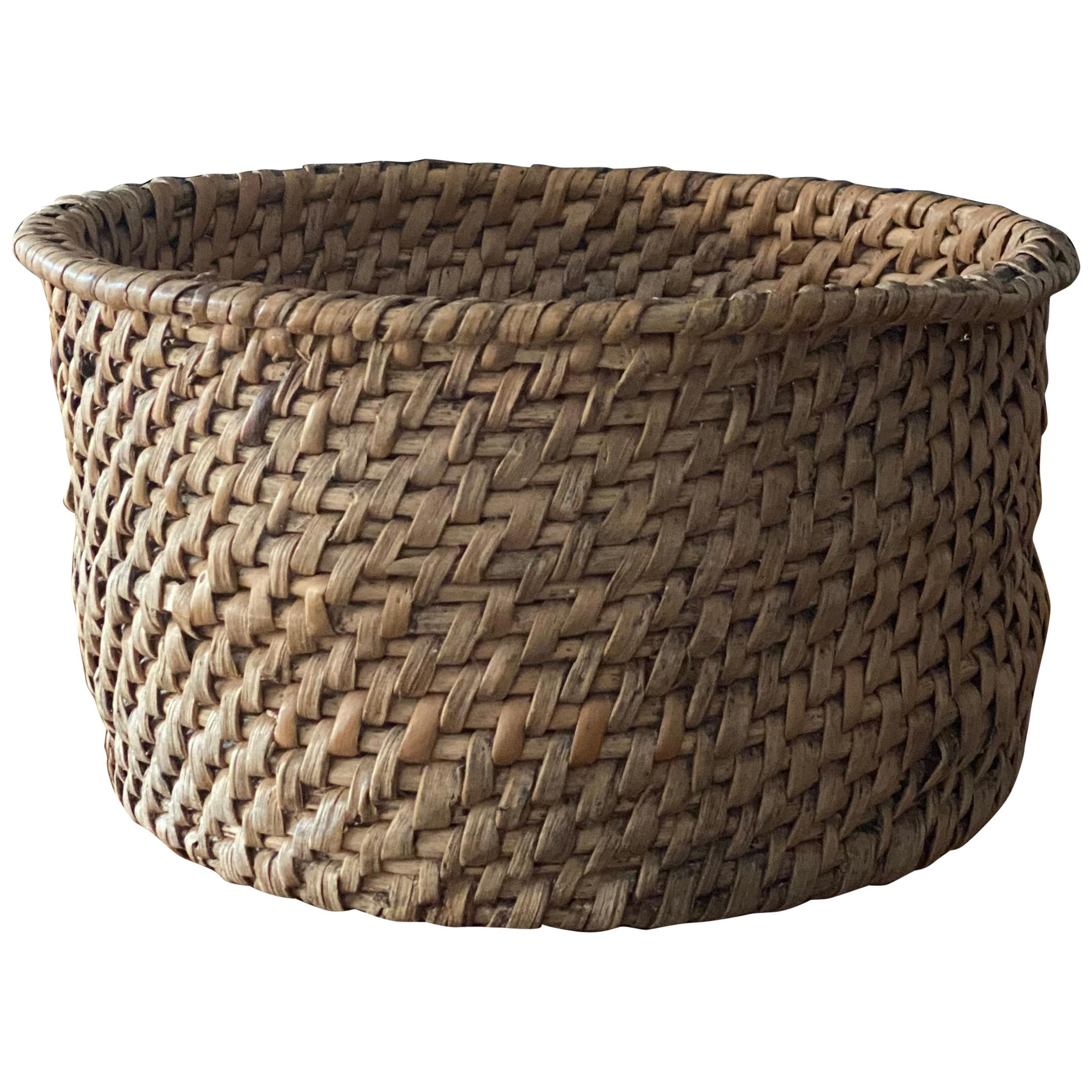 Swedish Craft, Basket or Bowl, Woven Root, Sweden, 19th Century