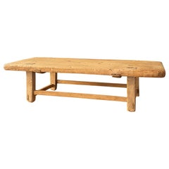 Swedish Craft, Farmers Low Table or Bench, Pine, circa 1900, Sweden