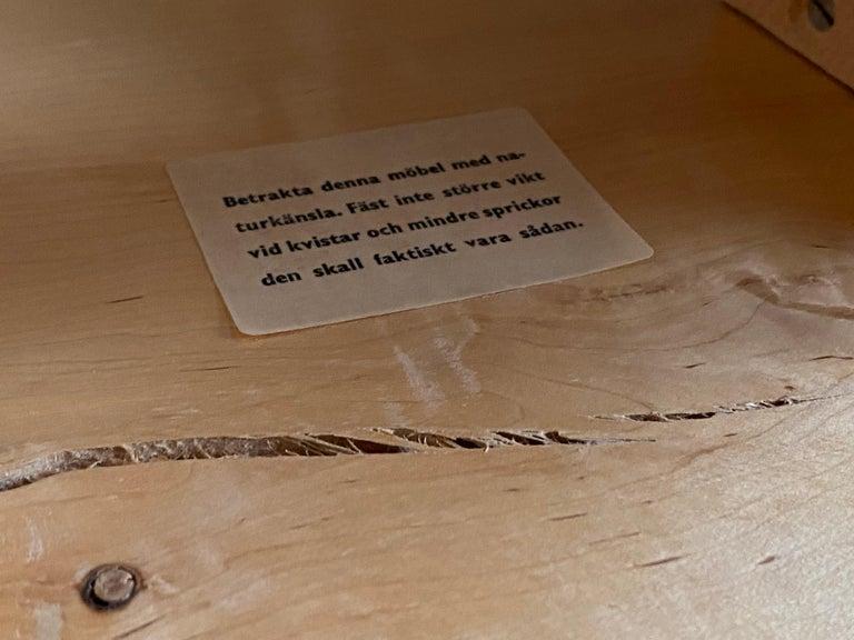 Swedish Craft, Freeform Stool or Side Table, Solid Light Wood, Sweden 3