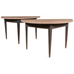 Swedish Demilune Console Tables