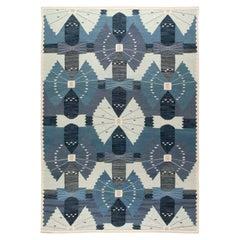 Swedish Design Flat-Weave Rug