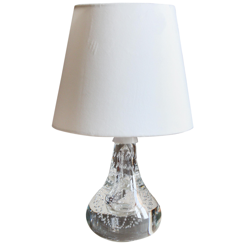 Swedish Designer, Organic Table Lamp, Blown Glass, Sweden, 1960s