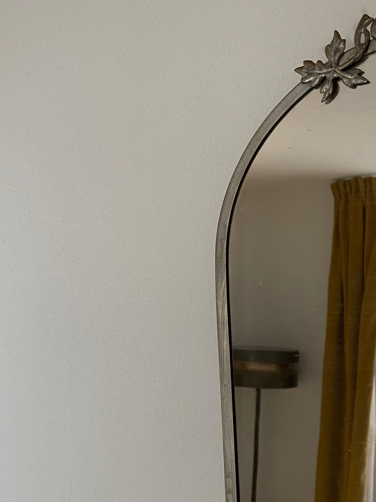 Swedish Designer, Small Wall Mirror, Pewter, Sweden, 1930s For Sale 1