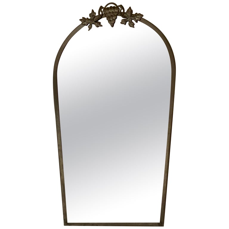 Swedish Designer, Small Wall Mirror, Pewter, Sweden, 1930s For Sale