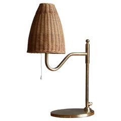Swedish Designer, Table Lamp, Brass, Sweden, c. 1960s