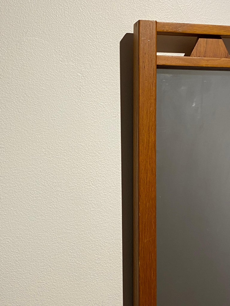 Mid-20th Century Swedish Designer, Wall Mirror, Stained Oak, 1950s, Sweden For Sale