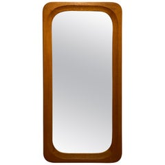 Swedish Designer, Wall Mirror, Stained oak, 1950s, Sweden