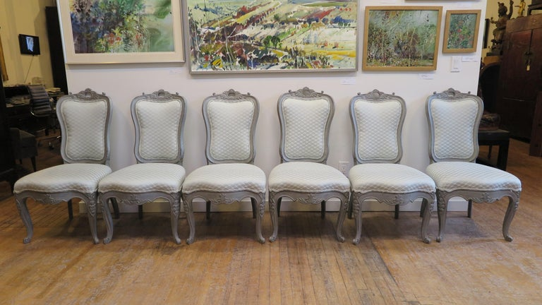 Swedish Dining Chairs Set of Six In Good Condition For Sale In New York, NY