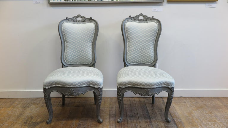 20th Century Swedish Dining Chairs Set of Six For Sale