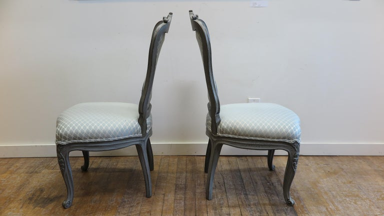 Swedish Dining Chairs Set of Six For Sale 1