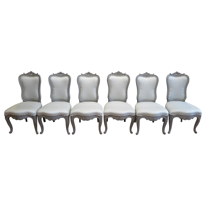 Swedish Dining Chairs Set of Six