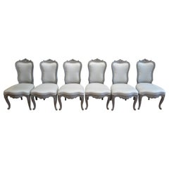 Swedish Dining Chairs Set of Six