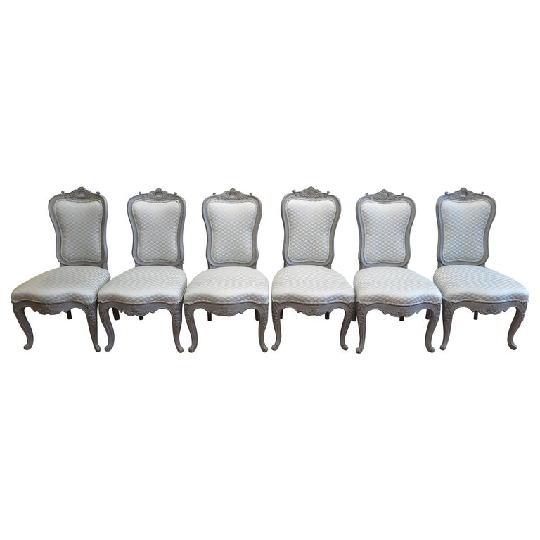 Swedish Dining Chairs Set of Six For Sale