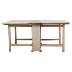 Swedish Double Gated Drop-Leaf Table from Hälsingland