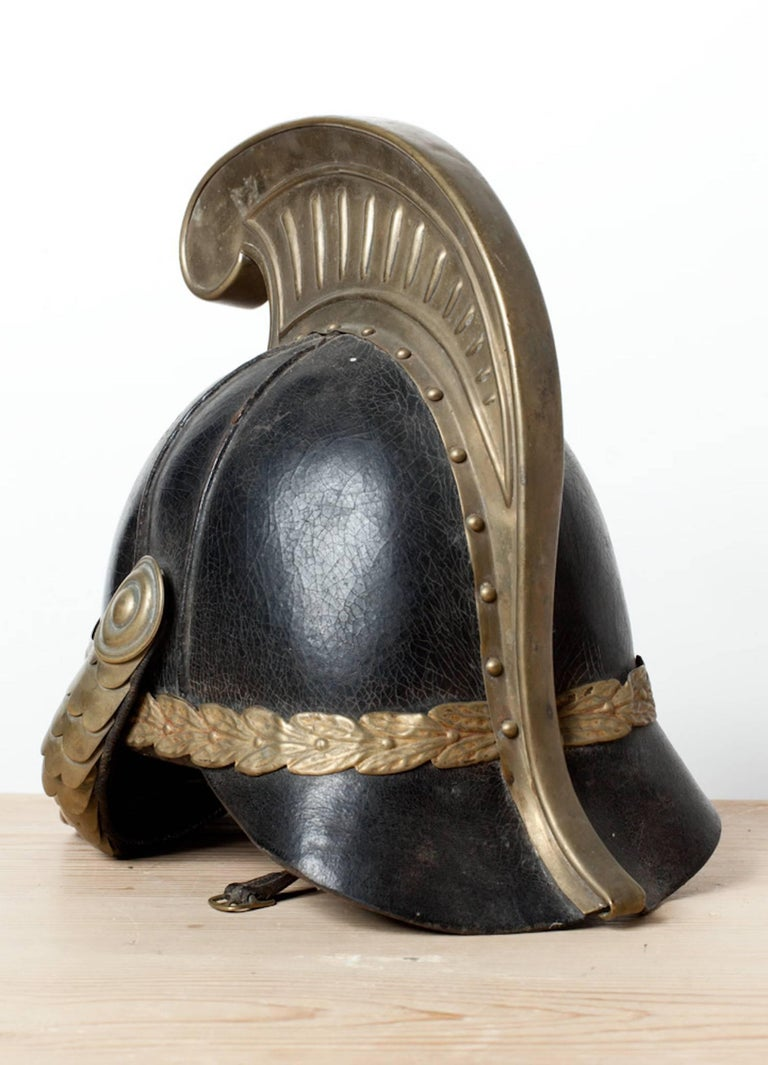 Swedish Dragoon Jousting Helmet, Origin Sweden, circa 1800 In Good Condition For Sale In New York, NY