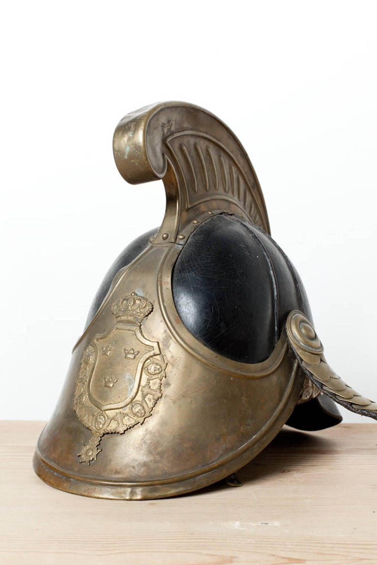 19th Century Swedish Dragoon Jousting Helmet, Origin Sweden, circa 1800 For Sale