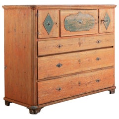 Swedish Early 19th Century Folk Art Chest of Drawers
