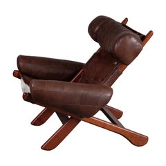 Swedish Easy Chair with Cowhide, 1970s