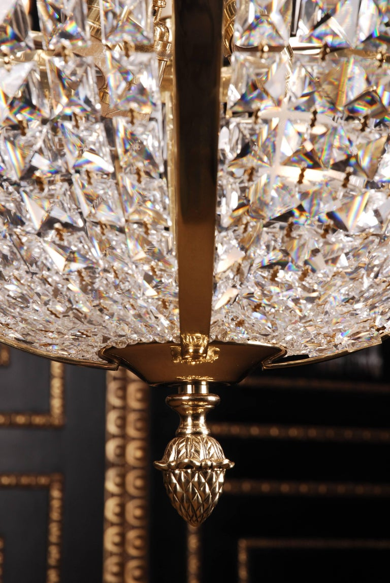 Swedish Empire Ceiling Chandelier in Classicist Style For Sale 3