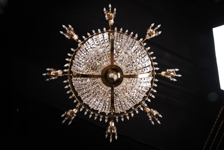 Swedish Empire Ceiling Chandelier in Classicist Style For Sale 1