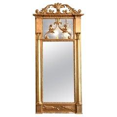 Swedish Empire/ Karl Johan Rectangular Giltwood Mirror, circa 1820