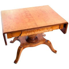 Swedish Empire Leaf Table in Birch from Early 1900s