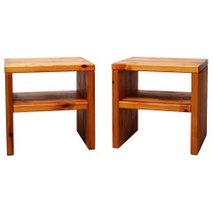 Swedish End Tables in Pine by Sven Larsson